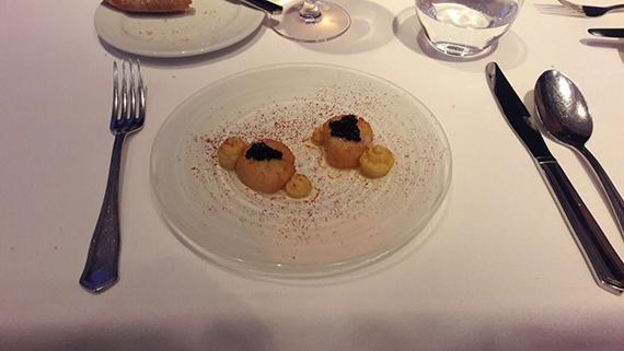 Jakobsmuschel mit Kaviar im Restaurant Summum Las Palmas