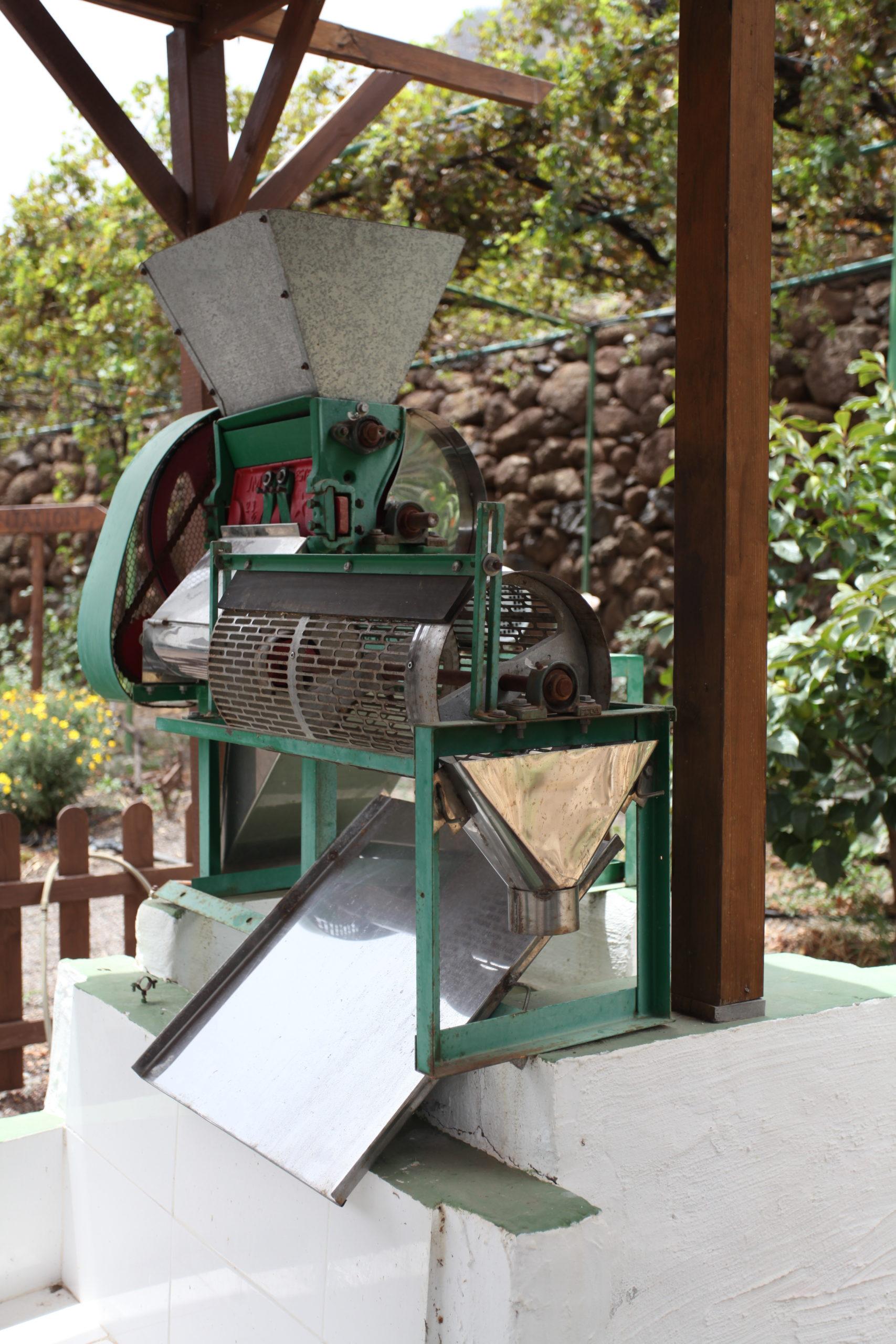 Maschine zum Schälen der getrockneten Kaffeefrüchte