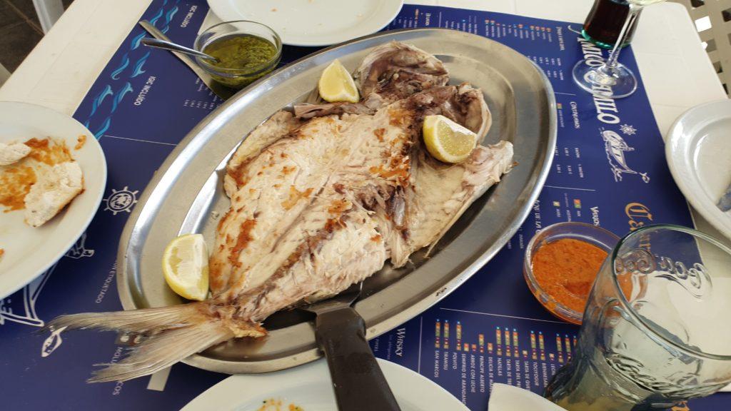 Sama a la plancha im Fischrestaurant Amigo Camilo