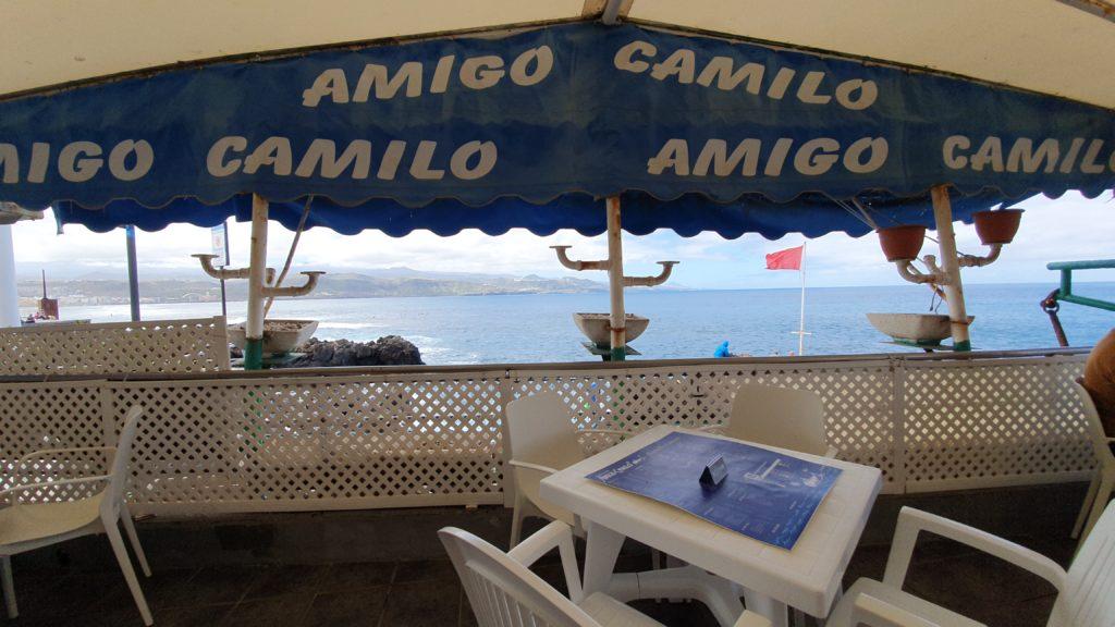 Terrasse im Fischrestaurant Amigo Camilo